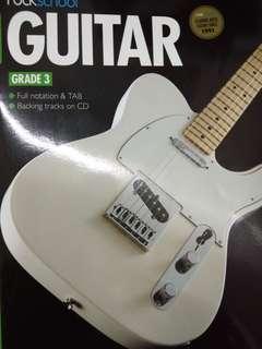 Rock school grade 3 electric guitar exam book