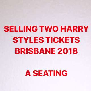 Harry Styles Tickets 2018 Brisbane Concert (A seating)