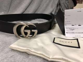Authentic Gucci GG Silver Belt