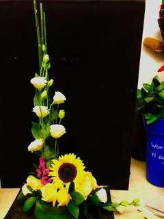 Flowers - L-shaped Table Arrangement