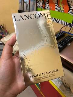 Lancome absolu au naturel pallete