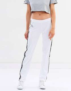Kappa white track pants