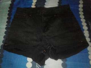 Black denim short sexy