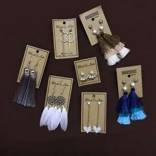 Korean tassel and dangling earrings