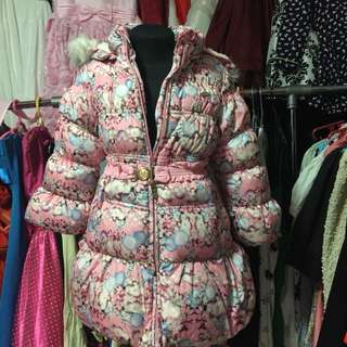 Cute Pink Floral Bubble Jacket (free sf cavite-laguna,biñan and mm areas)