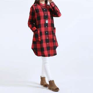 Checked Plaid Blouse