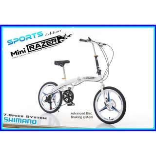 Free Delivery -Full suspension-Brand new Foldable Bicycle with Disk brakes & Shimano gear,Sports Rims etc