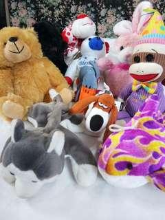 Beanie babies/stuff toys(10pcs)