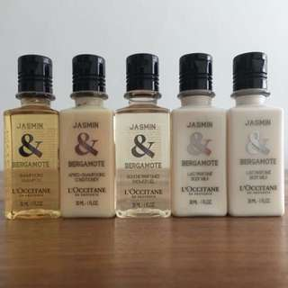 L'occitane travel bottles