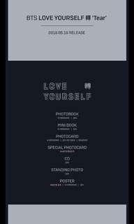 NON-PROFIT GO BTS Love Yourself- Tear