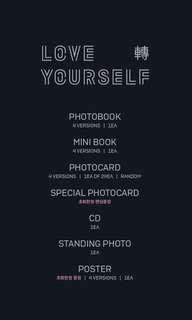 Love Yourself 轉 'TEAR' 3rd Full Album Preorder (Nonprofit GO) 原價代購✨ .