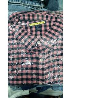 Prince Fox Flannel Shirts (Mens) red checkered