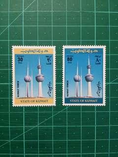 1977 科威特 科威特塔啟用紀念 新票一套