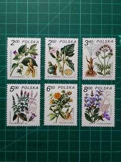 1980 波蘭 藥用植物 新票一套