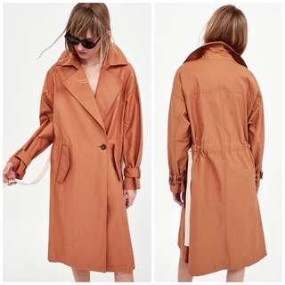 OshareGirl 04 西班牙單女士單釦綁帶經典實穿長款風衣造型外套