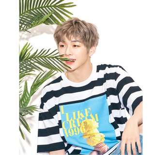 【Korea Buying Service 5/25-6/3】Wanna One Kang Daniel LAP Stripes T-shirt