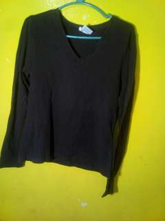Longsleeves black plain