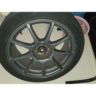 "Final reduction - 4 set 17"" Rim n tyre for sale - used on subaru impreza- bought whole set for $1499 but selling for $555 only"