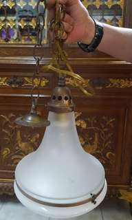Old porcelain lamp