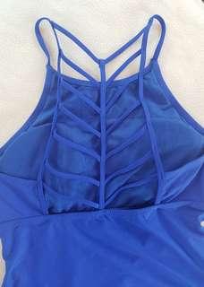 Blue tankini top