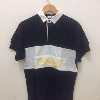 Vintage coca cola rugby polo shirt size 3