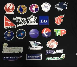 Airlines Stickers