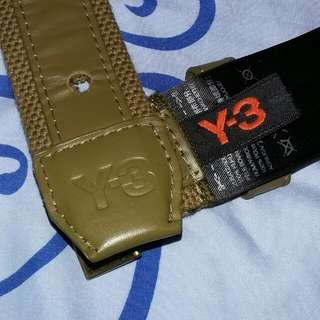 Y3 canvas leather belt