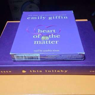 8-CD AUDIOBOOK SARAH DESSEN & EMILY GIFFIN HARDCOVER