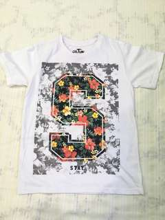 Floral-White Graphic Tee