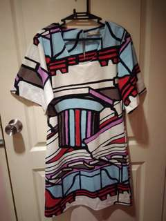 Balenciaga Graphic Printed Shift Dress