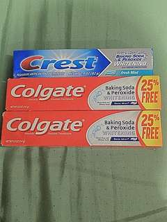 Toothpastes- US bought