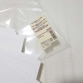 muji loose leaf b5 6mm lined papers