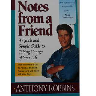 English book : Notes from a Friends       Author : Anthony Robbins