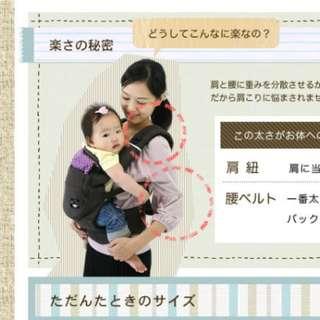 Ergonomic Baby Carrier Japan