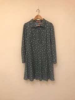 🚚 FFFF日系純棉牛仔藍洋裝