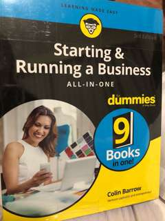 Starting and Running a Business for Dummies Book