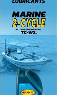 Minyak enjin boat dan motor 2-silinder (1 litre)