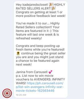 4TH TIME. THANK YOU CAROUSELL! ❤️