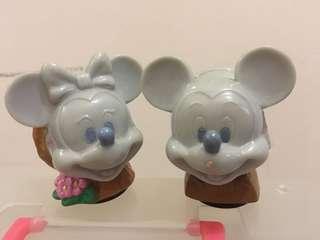 日本迪士尼 米奇米妮 塑膠擺設