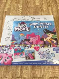 My Little Pony Canvas coloring set with a story book