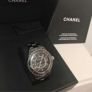 CHANEL 香奈兒 J12 陶瓷機械錶 42mm H2980 盒單齊全