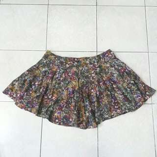 Watercolor printed skirt