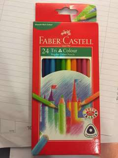 Faber castell  24 grip colour pencils
