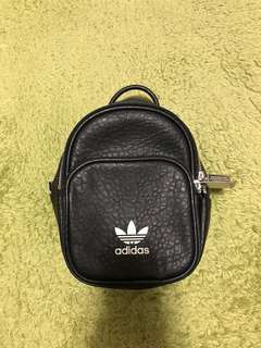 🔆9成新🔆 Adidas Originals pu Mini backpack 迷你後背包 黑色 皮革 BK695104