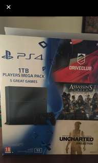 PS4 Slim 5.0 version with 5games , 2controller