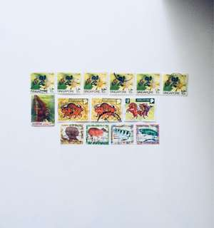 Old S'pore Stamps
