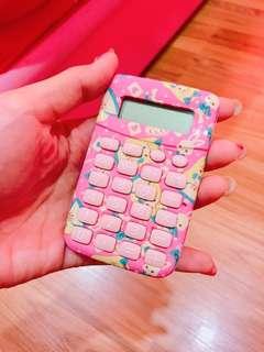 🚚 🎀日本雜貨 粉紅 兔兔 愛麗絲 迷你型 計算機