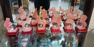 12 Crystal Chinese Zodiac Animals
