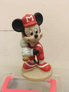 絕版 日本迪士尼樂園 陶瓷 棒球 米奇老鼠 擺設