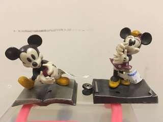 絕版 日本迪士尼 金屬 米妮米奇老鼠